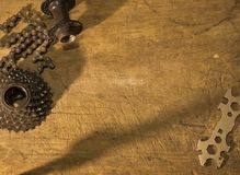 Gearwheel z łańcuchem Obraz Royalty Free