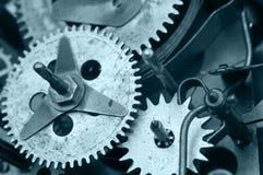 Gearwheels inside zegaru mechanizm Makro- Fotografia Stock