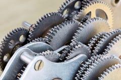 Gearwheels jako maszyneria szczegóły przemysłowy mechanizmu zbliżenie Obrazy Royalty Free