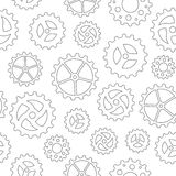 Gearwheels Seamless Background Royalty Free Stock Images