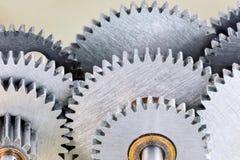 Gearwheels szczegóły przemysłowe maszyny, makro- widok Obraz Stock