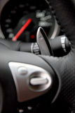 Geasfhit pedal. Close up shot of automatic gearbox pedal in Nissan 370 Z Royalty Free Stock Photography