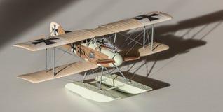 Geassembleerd vliegtuig plastic model Stock Foto