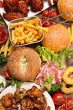 Geassorteerd Amerikaans voedsel royalty-vrije stock fotografie