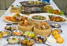 Geassorteerd Dim Sum en voedsel Royalty-vrije Stock Foto