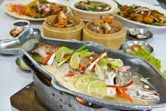 Geassorteerd Dim Sum en voedsel Royalty-vrije Stock Afbeeldingen