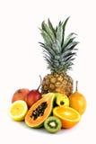 Geassorteerd geïsoleerdj fruit Royalty-vrije Stock Afbeeldingen