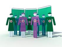 Geassorteerd medisch team royalty-vrije illustratie