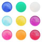 Geassorteerd Mini Dish Glitter Colors Royalty-vrije Stock Afbeeldingen