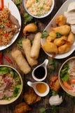 Geassorteerd van Aziatisch voedsel royalty-vrije stock foto's