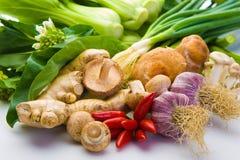 Geassorteerde Aziatische groenten Stock Foto