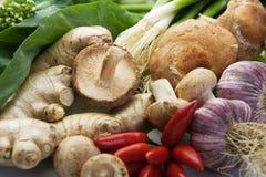 Geassorteerde Aziatische groenten Stock Afbeelding