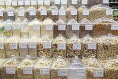 Geassorteerde Braziliaanse noten stock afbeeldingen