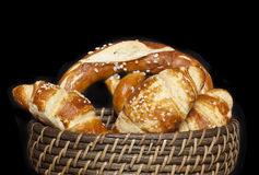 Geassorteerde brood en broodjes royalty-vrije stock foto's