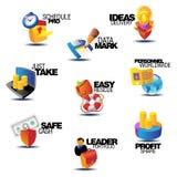 Geassorteerde conceptentitels voor zaken Stock Afbeeldingen