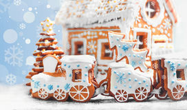 Geassorteerde de peperkoekkoekjes van Kerstmis Royalty-vrije Stock Afbeeldingen