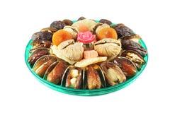 Geassorteerde droge vruchten die met noten worden gevuld Royalty-vrije Stock Foto's