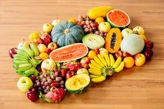 Geassorteerde en gemengde vruchten Royalty-vrije Stock Fotografie