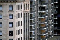 Geassorteerde flatgebouwen Stock Foto