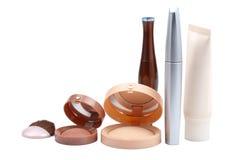 Geassorteerde geïsoleerdee make-up Stock Foto