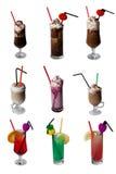 Geassorteerde geïsoleerdeu dranken - Royalty-vrije Stock Afbeeldingen