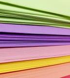 Geassorteerde Gekleurde Stapel van Documenten Royalty-vrije Stock Afbeelding