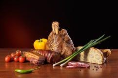 Geassorteerde gerookte vleeswaren Stock Foto's