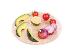 Geassorteerde groenten en vruchten Royalty-vrije Stock Foto's