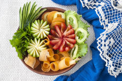 Geassorteerde groenten, Verse tomaten, wortel en courgette, vegetarisch voedsel Royalty-vrije Stock Foto's