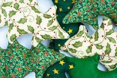 Geassorteerde Hand - gemaakte Kerstbomen Stock Afbeeldingen
