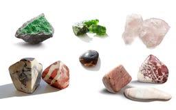 Geassorteerde inzameling van mineraal Stock Afbeelding