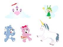 Geassorteerde karakters - het thema van Meisjes vector illustratie