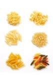 Geassorteerde macaroni-deegwaren royalty-vrije stock foto's