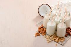 Geassorteerde melk zonder lactose royalty-vrije stock foto