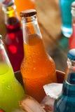 Geassorteerde Organische Ambacht Oranje Soda Stock Afbeelding