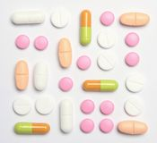 Geassorteerde pillen stock foto's