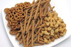 Geassorteerde snacks Royalty-vrije Stock Afbeelding