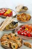 Geassorteerde snacks stock afbeelding