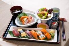 Geassorteerde Sushi Tray Set Royalty-vrije Stock Afbeelding