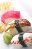 Geassorteerde sushischotel stock foto