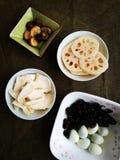Geassorteerde vegetarische voedselingrediënten Royalty-vrije Stock Afbeelding