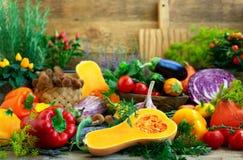 Geassorteerde verse groenten stock afbeeldingen