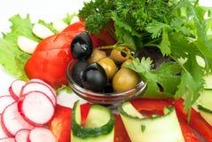 Geassorteerde verse groenten stock foto