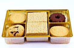 Geassorteerde zandkoek Stock Foto's