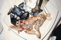 Geassorteerde Zeevruchtenplaat Royalty-vrije Stock Foto