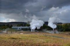 Geathermal park in Hveragerði, Iceland Stock Photo