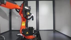Geautomatiseerd robotwapen stock footage
