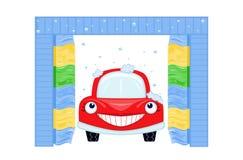 Geautomatiseerde autowasserette stock illustratie