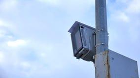 Geautomatiseerde complexe foto en videoopname van voertuigsnelheid Stock Foto