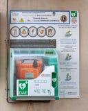 Geautomatiseerde externe defibrillator royalty-vrije stock foto